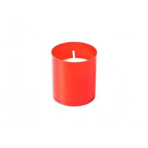 svíčka hřbitovní náhradní  4,7cm 30g (hoří 10x9hod) paraf. ČRV, BÍ (10ks)