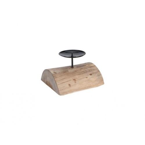 svícen 15x13x12cm teak.dřevo