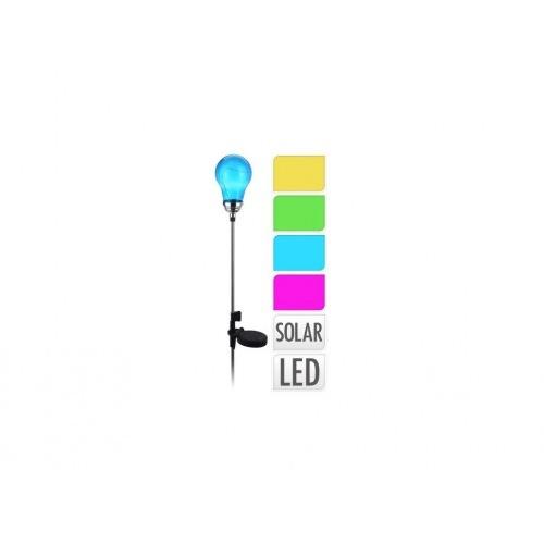 lampa solární ŽÁROVKA 4LED v.75cm mix barev