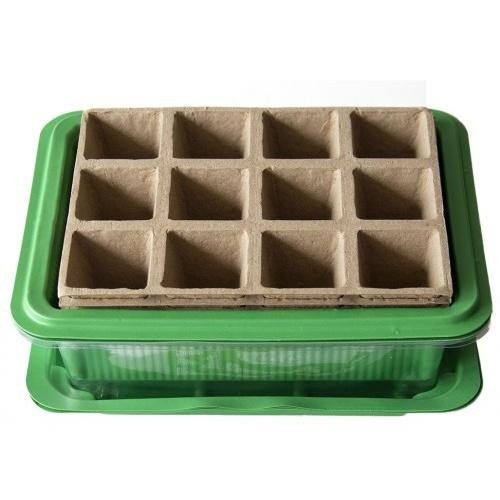 minipařeniště + deska sadbová papír.12 polí (3sady)