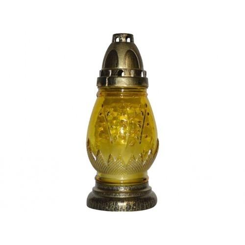 lampa hřbitovní JARNÍ MOTIV sklo 20cm (30g) (hoří 9 hod) paraf.