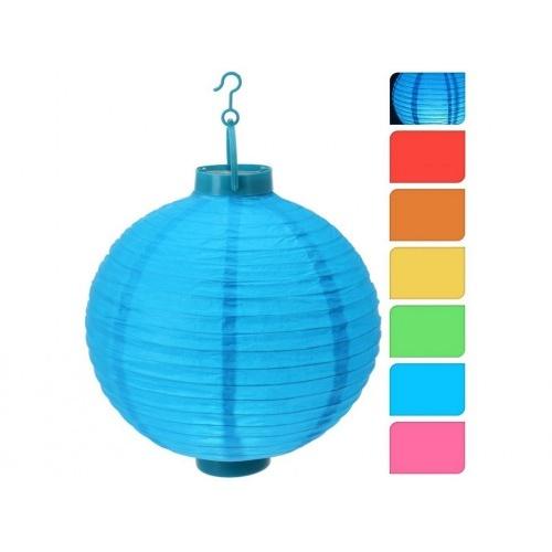 osvětlení LAMPION pr.20cm 1LED papír mix barev