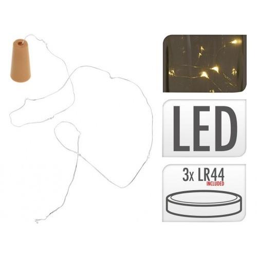 osvětlení do láhve ZÁTKA 8LED