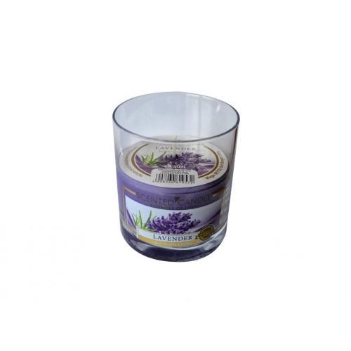 svíčka vonná sklo LEVANDULE 135g (hoří 30hod)