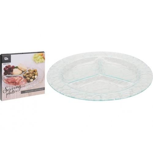talíř servírovací 26cm skleněný