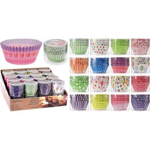 košíček cukrářský 5x3,5cm papírový (80ks) mix barev/dekorů