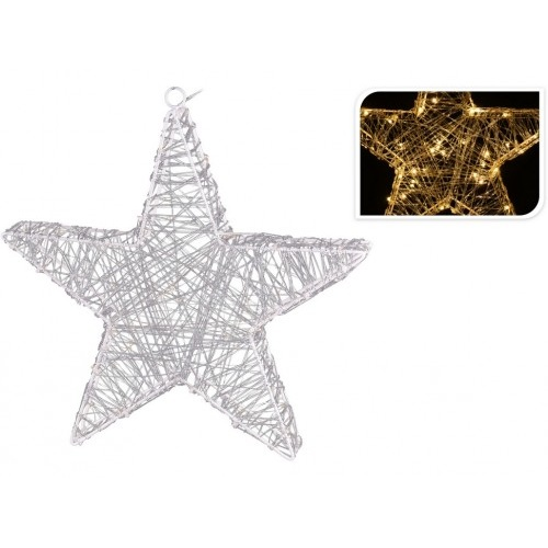 osvětlení vánoční HVĚZDA 30cm 30LED