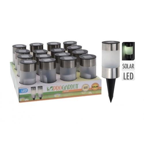 lampa solární v.24cm, 1LED, PH/nerez