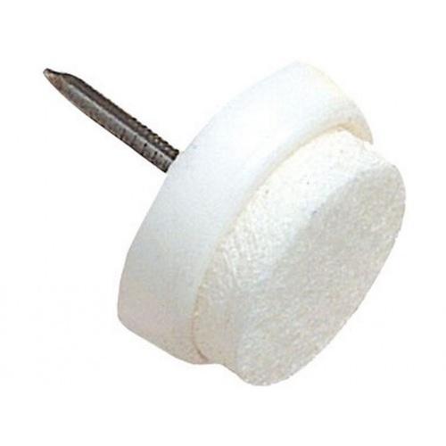 ochrana podlah filcová s hřebíčkem do nábytku 22mm BÍ (8ks) blistr