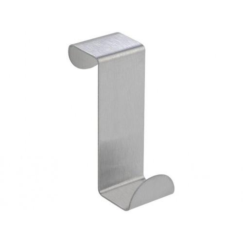 háček na zásuvku malý nerez 2,5x6cm (2ks) blistr