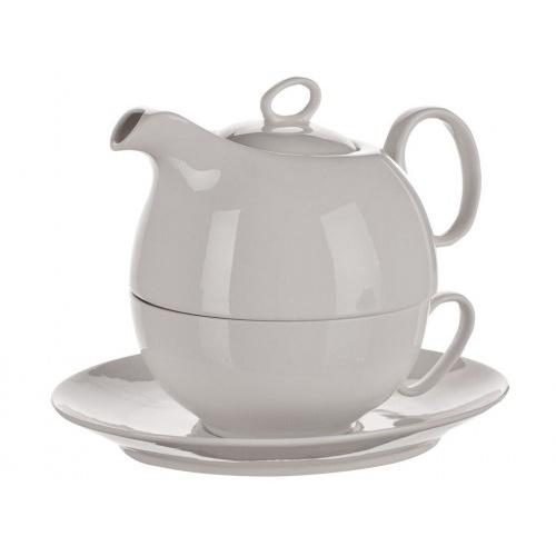 konvička + šálek a podšálek porcelán BÍ TEA FOR ONE, 3 díly