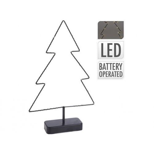 osvětlení vánoční STROM  38x24x5,5cm 20LED s časovačem ČER