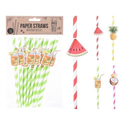 brčka 5x200mm papírová s motivem, mix dekorů (16ks)