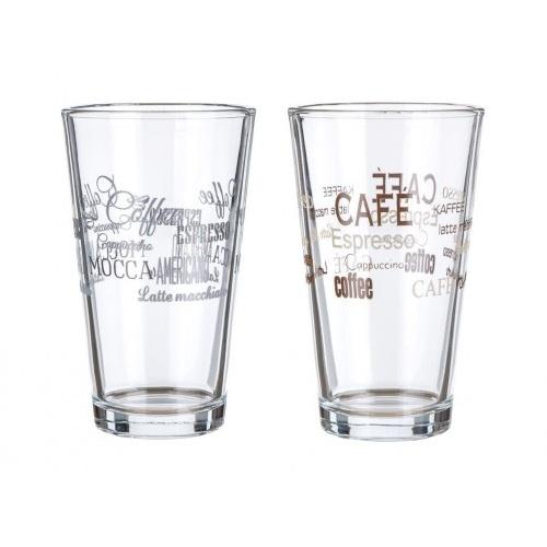 sklenice 455ml CAFE II mix dekorů