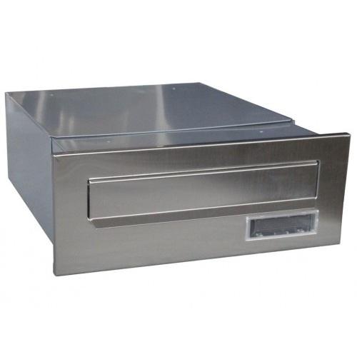 schránka poštovní pro zazdění do sloupku 320-540x250x110mm ŠE+nerez
