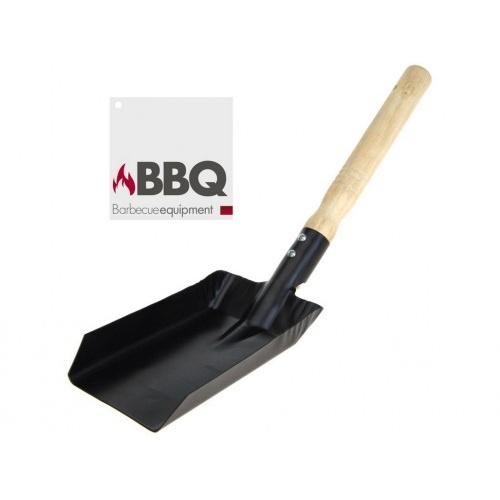 lopatka na dřev.uhlí/brikety BBQ kov./dřev.rukojeť