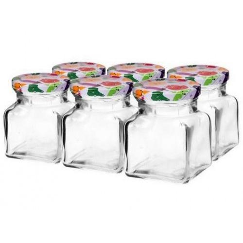 sklenice zavařovací 120ml + víčka barev. 54 (6ks)