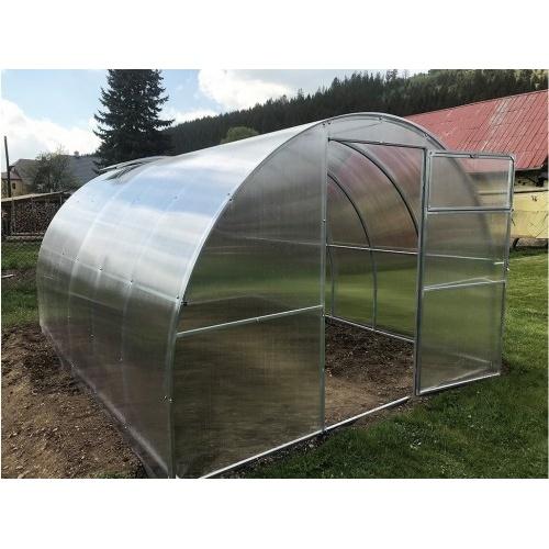 skleník zahradní GULLIVER 4x3 m oblouk, polykarbonát