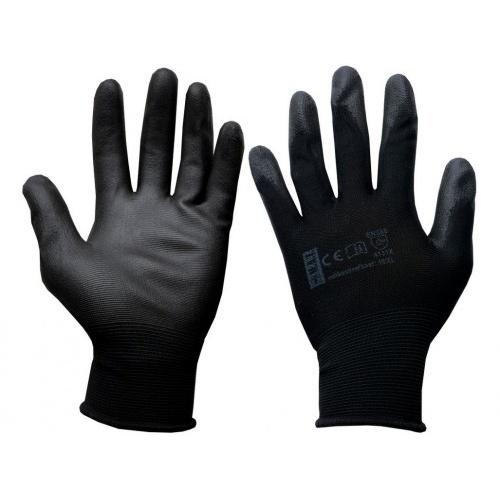 rukavice PURE BLACK PU 10