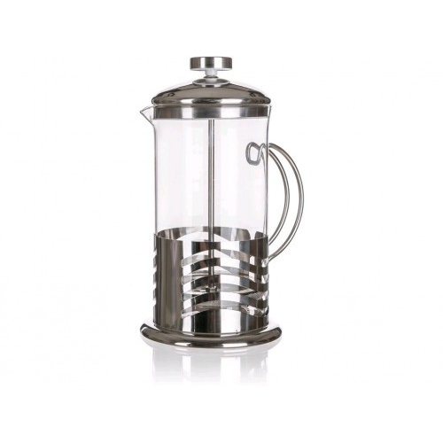 konvice na kávu WAVE 0,6l sklo+nerez