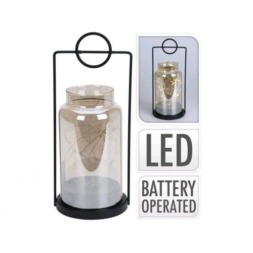 lampa 25x10,5cm, 15LED, sklo/kov
