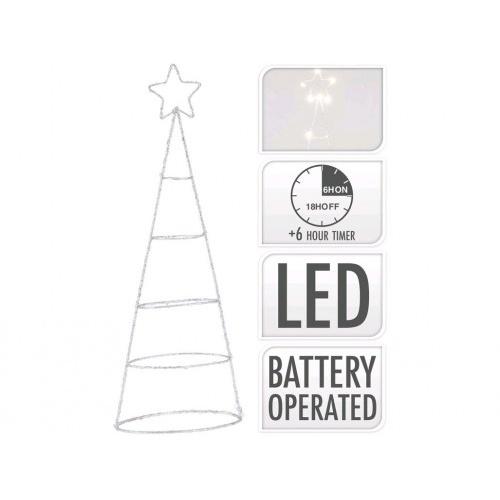 osvětlení vánoční STROM  40cm 20LED s časovačem