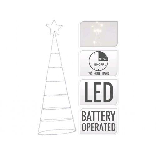 osvětlení vánoční STROM  57cm 30LED s časovačem