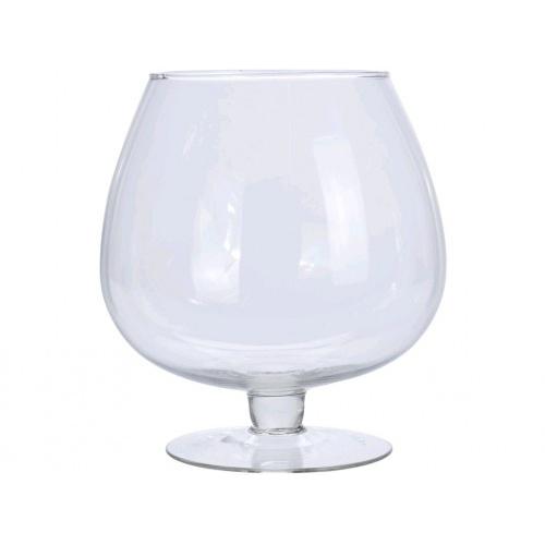 váza dekorační číše pr.18,5x21cm skl.