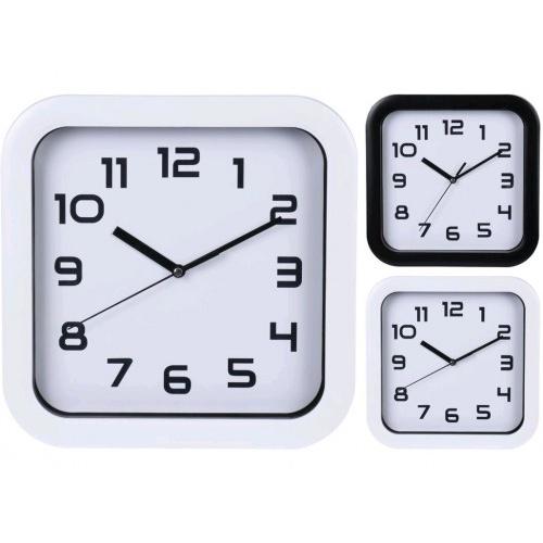 hodiny nástěnné 25x25cm PH BÍ/BÍ,ČER rámeček mix