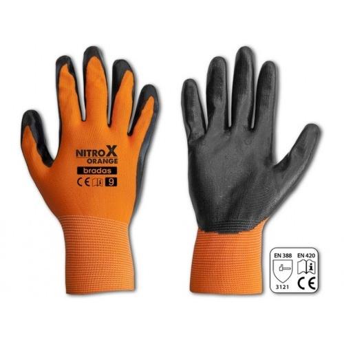 rukavice NITROX ORANGE nitril 10