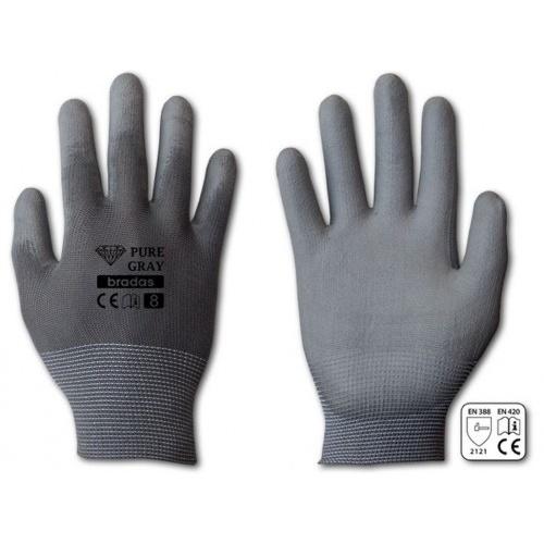 rukavice PURE GRAY PU  9