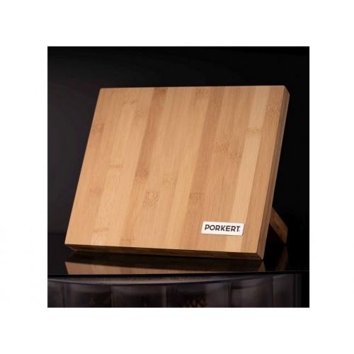 blok na nože magnetický 24x21x12cm bambusový