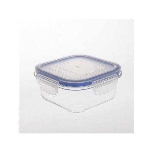 dóza  čtverc. 0,8l 16,2x16,2x7cm skl.+PP víčko