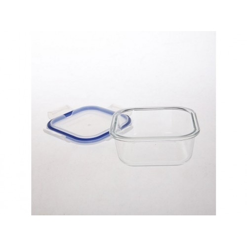 dóza  čtverc. 1,1l 18,3x18,3x7,7cm skl.+PP víčko