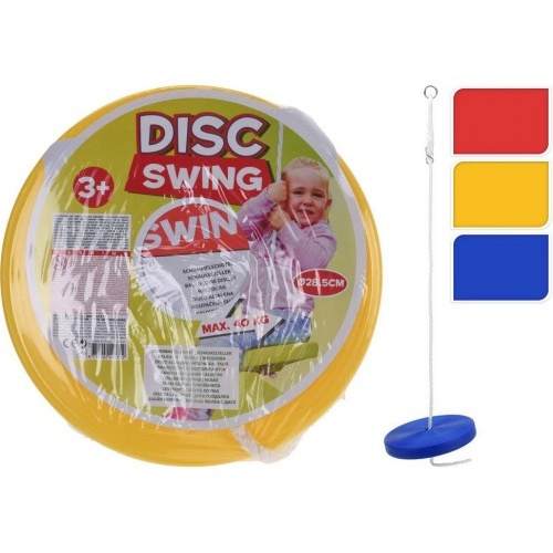 houpačka dětská s lanem talířová pr.28,5cm, nosnost 40kg, PH mix barev