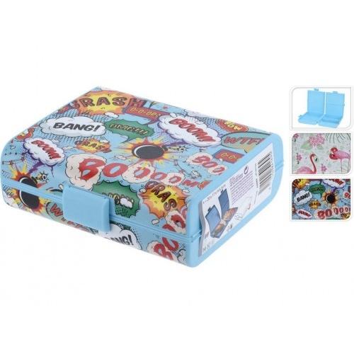 box svačinový 20x17x6,5cm s klick uz. PH mix dekorů