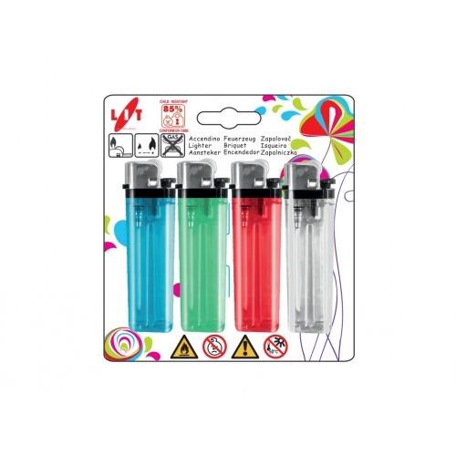 zapalovač FIERY 7,5cm plamínkový, kapesní, mix barev (4ks)