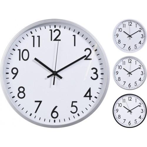 hodiny nástěnné pr.30cm PH BÍ/BÍ,STŘ,ČER rámeček mix
