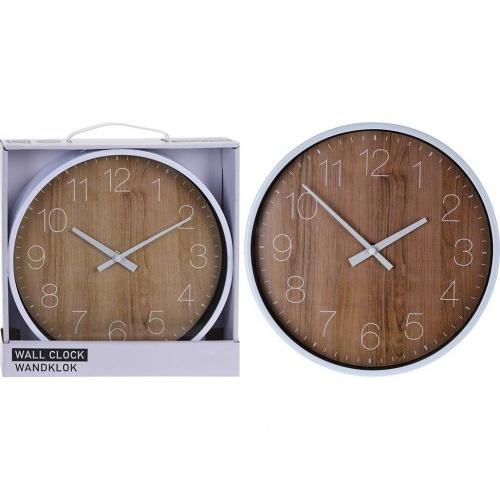 hodiny nástěnné pr.25cm PH BÍ/imitace dřeva