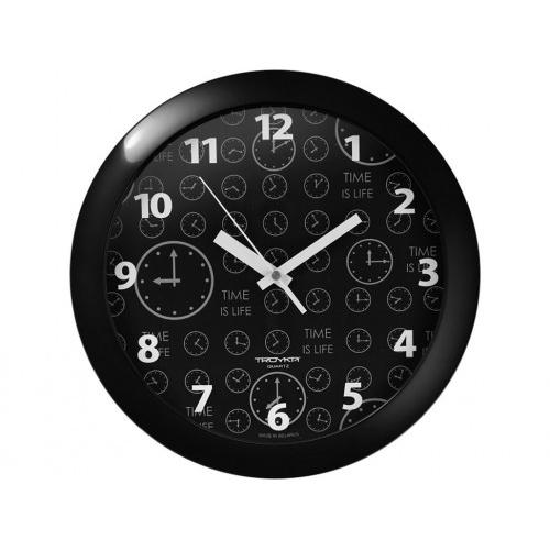 hodiny nástěnné pr.29cm PH ČER, minerální sklo