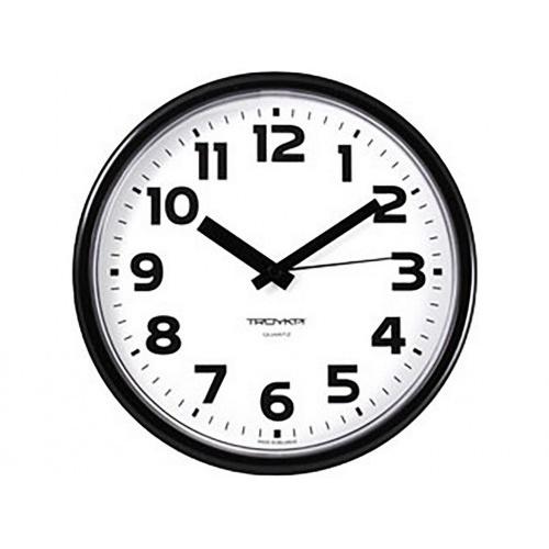 hodiny nástěnné pr.22,5cm PH ČER, plastové sklo