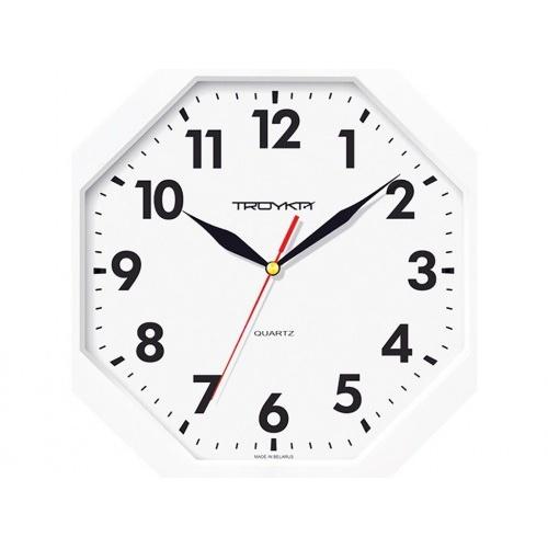 hodiny nástěnné 29x29cm osmihranné PH BÍ, minerální sklo