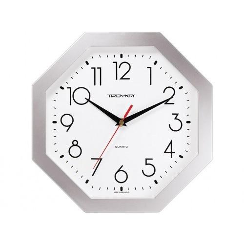 hodiny nástěnné 29x29cm osmihranné PH STŘ, minerální sklo