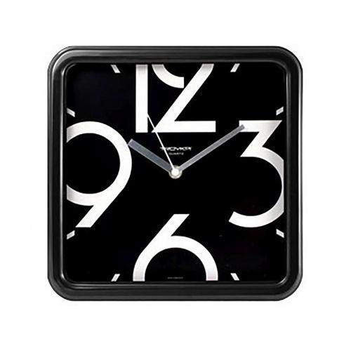 hodiny nástěnné 25x25cm PH ČER, minerální sklo (velký číselník)