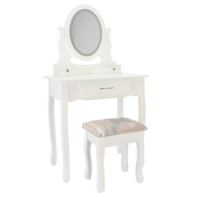 ALDOTRADE Kosmetický stolek LED Sofia 71x40x135cm s taburetem