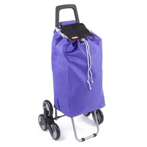 ALDOTRADE nákupní taška na kolečkách do schodů MADRID fialová