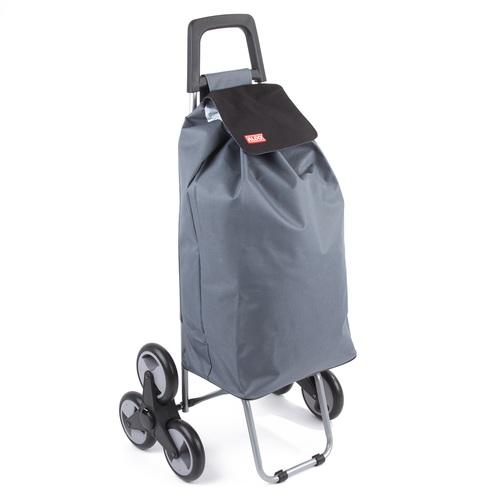 ALDOTRADE nákupní taška na kolečkách do schodů MADRID šedá