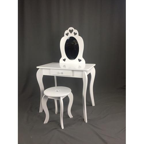 ALDOTRADE Dětský kosmetický stolek Elza 65x40x107cm s taburetem