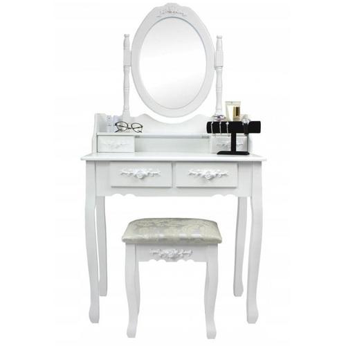ALDOSRO Toaletní kosmetický stolek Emilie 143x70x40cm s taburetem