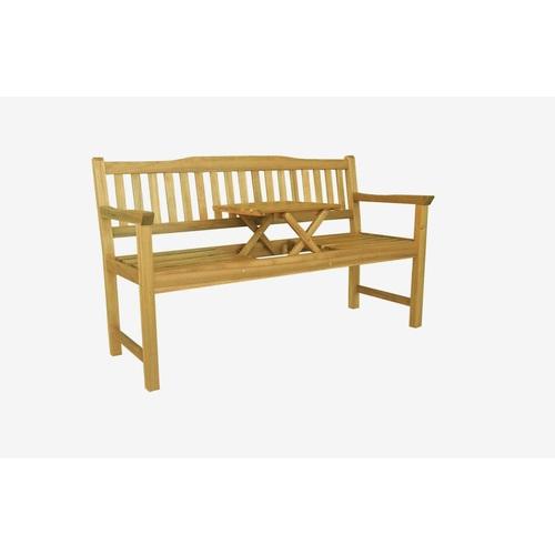 ALDOTRADE Dřevěná lavička Eva se stolkem uprostřed